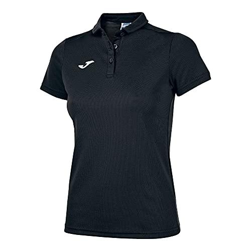 Joma Polo Hobby Mujer Negro M/C Camiseta, Negro-100, XL