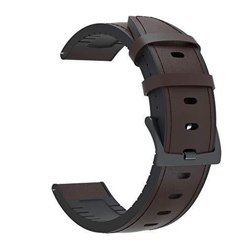 WE-WHLL Correa de Cuero de 22 mm, Pulsera, Adecuada para Samsung Gear S3 / / GT2 / GTR-C