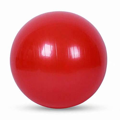YANGHUI Yoga Gleichgewicht übungsball Explosionsgeschützter Yoga-Ball verdickt Gymnastikball Fitness Pilates-Ball Gleichgewichts-Gymnastikball K?rpermassageball-Rot 100cm