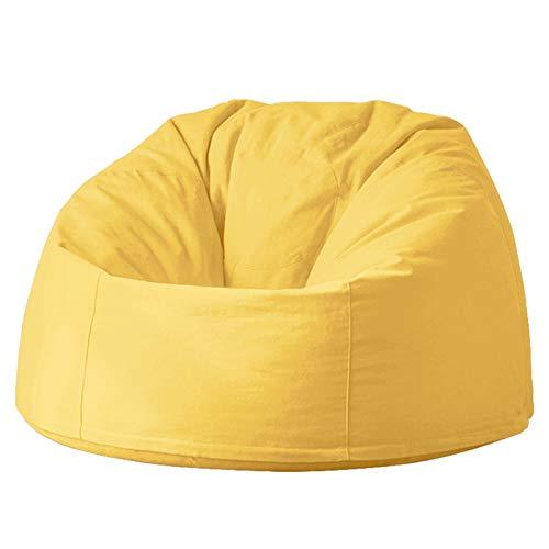 Canness Riesiger Sitzsackstuhl Große Buttersack-Stuhl-Sofa-Couch-Liege Hoher hinterer Buttersackstuhl for Erwachsene und Kinder Outdoor Sitzsäcke Innen (Color : Bright Yellow, Size : One Size)