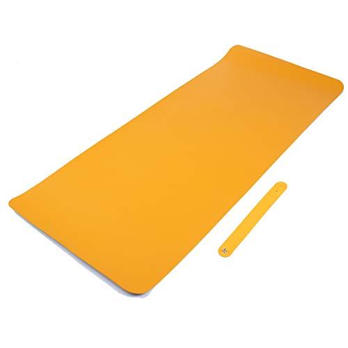 Lumiffy Desk Mat for Desktop Mouse Pad Large Gaming Desk Cover Protector for Desk with Calender 2021 Waterproof Desk Pad Mat Botter Protector (Orange-Blue, 31.5inX15.7in)