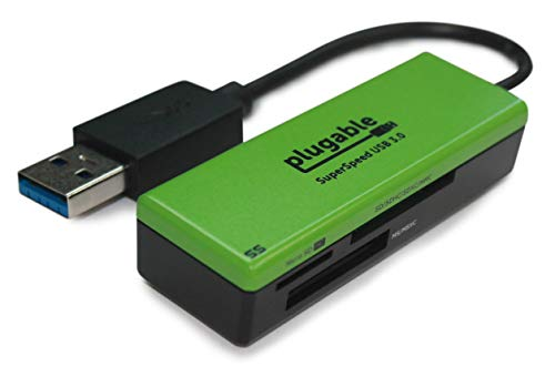 Plugable SuperSpeed USB 3.0 Flash Memory Card Reader for Windows, Mac, Linux, and Certain Android Systems - Supports SD, SDHC, SDXC, Micro SD  T-Flash, MS, MS Pro Duo, MMC, and More