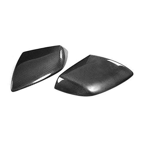 LY-QCYP Cubierta de Espejo retrovisor de Coche, Compatible con Lamborghini Huracan LP610 2014-2018 Agregar Fibra de Carbono Tapa de la Cubierta del Espejo Lateral