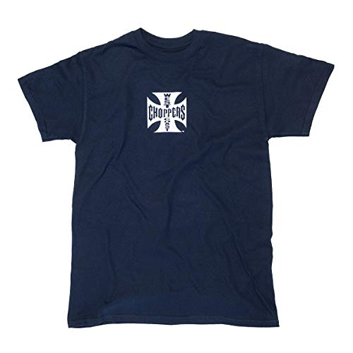 WEST COAST CHOPPERS Herren T-Shirt Cross ATX Navy, Größe:S, Farbe:Navy