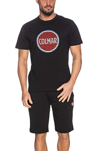 Colmar T Shirt a Manica Corta Uomo Originals Nera