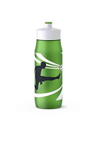 Emsa Squeeze Bottle 518092; 0,6L Goal, PE, grün, 6.5 x 6.5 x 21.9 cm