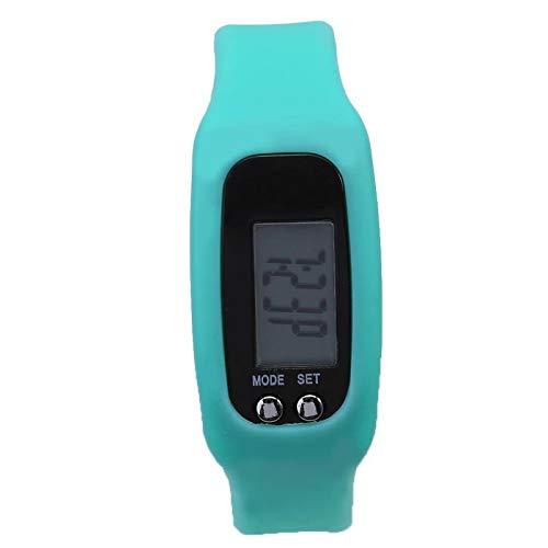 YUMILI Pulsera podómetro - Pulsera Inteligente Reloj Pulsera Contador de calorías Podómetro Deportes Fitness Contador de Pasos(Verde)