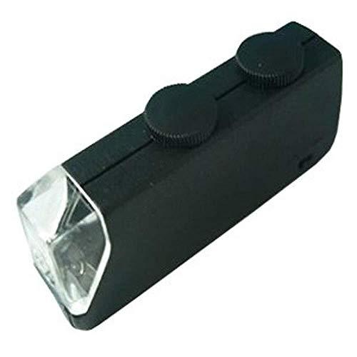 YISUNF ZHOME de Cristal con la Lupa de Bolsillo de la luz con la Fuente de luz LED de Alta 60-100X Ajuste de alimentación del microscopio 2X 4X 25x Ligero portátil de Cristal