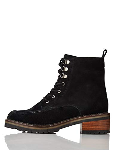 find. Suede Stitch Hiker Botines, Negro Black, 39 EU