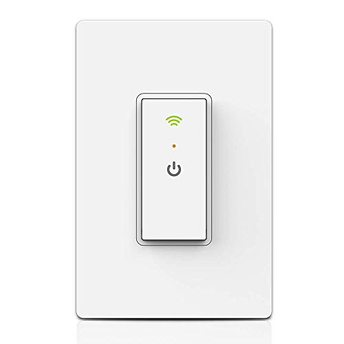 Ankuoo Smart WiFi Light Switch with Remote Control and Timer No Hub required, Easy and Safe installation, ETL and FCC listed, White