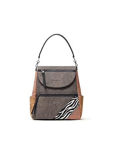 Desigual Womens BACK_MONA POSITANO Backpack, Brown, One Size