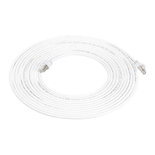Amazon Basics High Speed Patchkabel RJ45 Cat7 Gigabit Ethernet weis 76 m