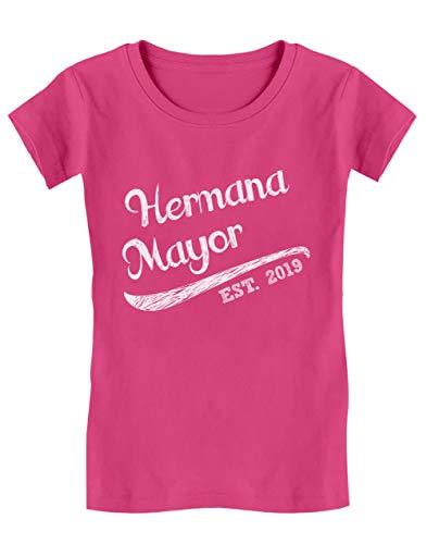 Camiseta de Manga Corta para niñas - Hermana Mayor - Regalo Original para Hermanas Mayores