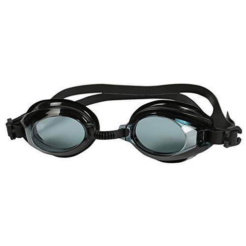 AXXMD Silikon Schwimmbrille Anti-Fog-UV-Schwimmen-Gläser mit Ohrenpfropfen for Männer Frauen Wassersport Brillen (Color : B)