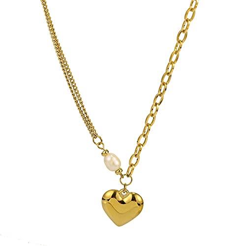 N/A Collares Mujer Collar Estilo Barroco Collar De Amor FemeninoInsSimple Cadena De Clavícula Salvaje Collares De La Amistad para Collar Pareja
