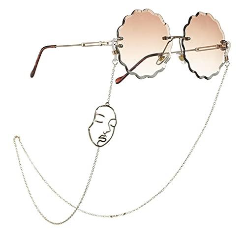 GYZX Cordón para Gafas Gafas Gafas de Cadena Correa Gafas de Sol Cables Gafas Casuales Accesorios (Color : A, Size : Length-70CM)