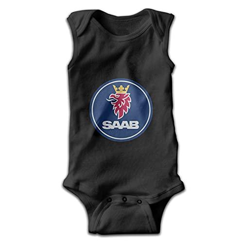 Aiier Sha-Kel Reu-Zobel Sa-Ab Logo Baby Jumpsuit ?rmelloser Jumpsuit Rundhals Baumwolle Bequem