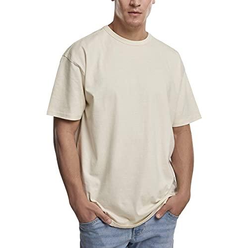 Urban Classics Herren Organic Basic Tee T-Shirt, Beige (Sand 00208), Large (Herstellergröße: L)