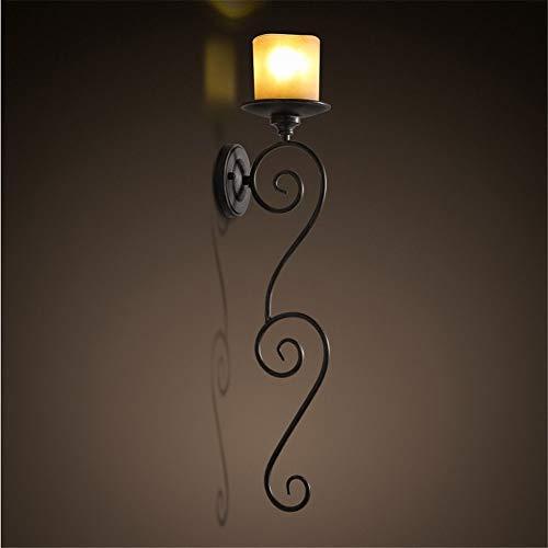Nanyun wandlamp, ijzeren draad Craft Villa decoratieve wandlamp, kunst, smeedmetaal, creatieve woonkamerlamp