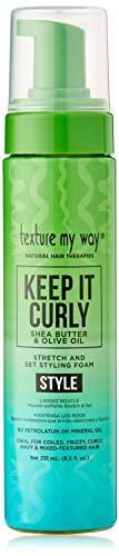 Texture My Way Keep It Curly - Spuma per capelli, per allungare e fissare i ricci, 251 ml