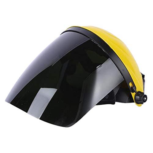 Máscara Protectora de Seguridad Pantalla de Protección Facial Transparente Montada en La Cabeza Casco de Pulido - Amarillo