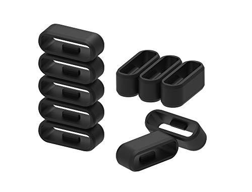Ruentech Ersatz Silikon Keeper Kompatibel mit Garmin Vivosmart HR/HR+ / Samsung Gear Fit 2 / Gear Fit 2 Pro Band Strap Zubehör Verschluss Ring Verschluss