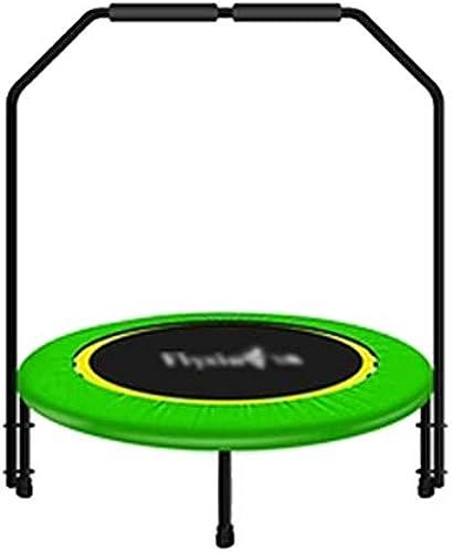 3 Fu ampoline mit Griffstange beweglicher rüttelnder Eignung, 40-Zoll-übungs-Ausrüstung für das Erwachsene und KinderGrün