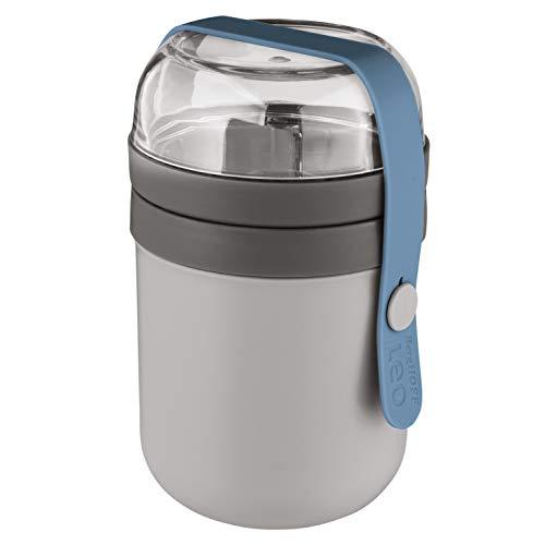 BergHOFF Leo Dual Lunch Pot 470ml, 180 ml in grau, blau