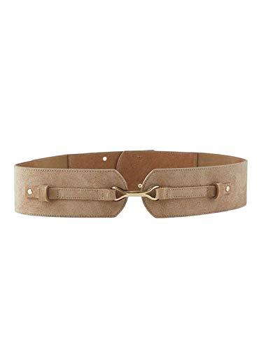 PIECES Cinturon Mellie Suede Beige Para Mujer 70 cm