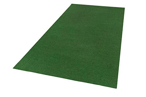 andiamo Kunstrasen Field, grün, strapazierfähiger Rasenteppich mit Drainage-Noppen, Größe:200 x 400 cm