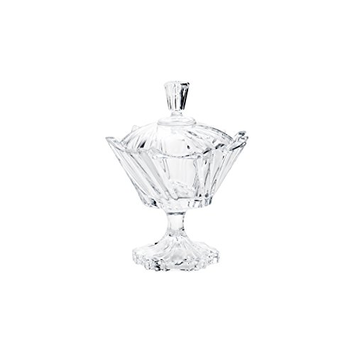 Rojemac Bomboniere de Cristal com Tampa e Pé Ikaro Bohemia, Transparente