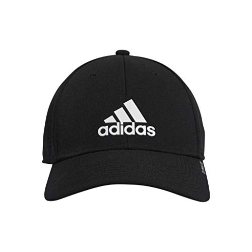 adidas Gameday Stretch Fit para Hombre, Hombre, Gorro/Sombrero, 976241, Negro/Blanco, L-XL