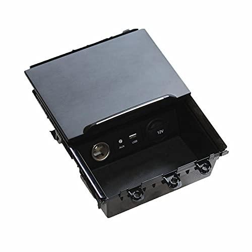 Control Central Interfaz USB Base de alimentación mechero Asiento Caja de Almacenamiento Montaje Apto para Hyundai Elantra 2016-2018 84680-F2200