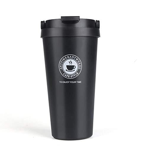 Edelstahl Trinkflasche,500 Ml Wiederverwendbare Wärmeisolierten Vakuum Tragbaren Hydro Kolben Kaffee Schwarz Kaffee Tasse Becher Bpa-Freie Flasche Auslaufsicher Für Die Schule Kinder Junge Erwachse
