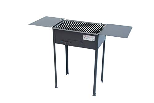 CRUCCOLINI BA10 Barbecue Campagnolo a Carbone, Nero, 107x38.5x78 cm
