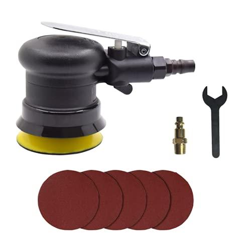 Herramientas neumáticas Mini Palma de Aire Lijadora Orbital Aleatorio Pulidora 3 'pulgadas 75mm Círculo Redondo para Auto Cuerpo Trabajo