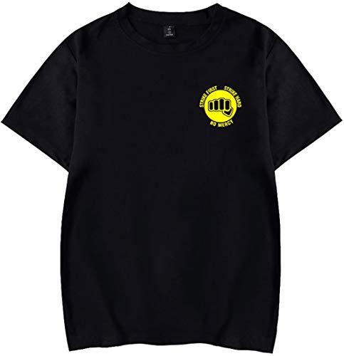 FLYCHEN Unisex T-Shirt Cobra Kai T-Shirt Karate schwarz Top Karate Logo T-Shirt Kung Fury T-Shirt The Karate Kid T-Shirt Kobra T-Shirt,5372 schwarz,M