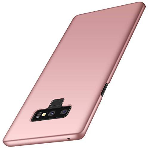 Kompatibel mit Hülle Samsung Galaxy Note 9 Seidiges Gefühl Ultra Slim PC dünn Matt stoßfest Schutzhülle 360 Grad Handyhülle Case für Galaxy Note 9 (Rotgold, Samsung Galaxy Note 9)