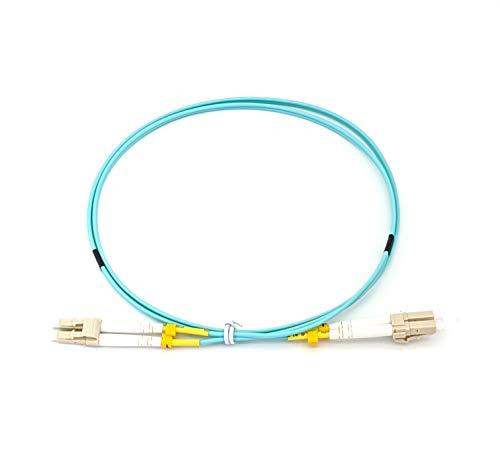 1M LC/UPC to LC/UPC Duplex 10Gb OM3 Multimode 50/125μm Fiber Patch...