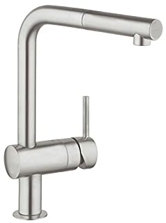 GROHE Minta | Küchenarmatur - Einhand-Spültischbatterie, L-Auslauf | Schwenkbereich 360° | supersteel | 32168DC0 (B003BFDDVY) | Amazon price tracker / tracking, Amazon price history charts, Amazon price watches, Amazon price drop alerts