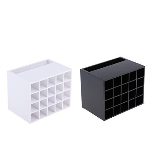SM SunniMix 2pcs Acrylique Organisateur Rangement Cosmétique Maquillage Support et Présentoir Rouge à Lèvres - 20 Compartiments
