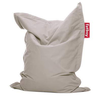 Fatboy® The Original Junior Stonewashed Pouf pour Chambre ado/Enfants Bean Bag/Coussin/Fauteuil d?intérieur   Argent   130 x 100 cm