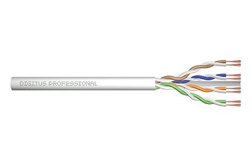 DIGITUS Roh-Patchkabel Cat-6A - Meterware Unkonfektioniert - 100 m - U-UTP Netzwerk-Kabel - LSZH - AWG 26/7 - Grau