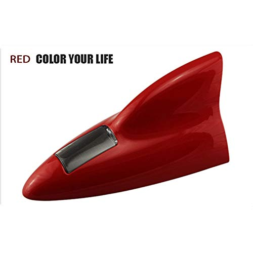 X-xiazhi, tianxian Advertencia de coche Antena LED Decoración Antenas de aleta de tiburón for Renault Megane 2 3 Duster VW Touran Passat B6 Golf 7 T5 T4 Fiat 500 (Color : Red)