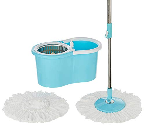 Presto! Spin Mop, Oval Bucket with Steel Basket, 2 Refills