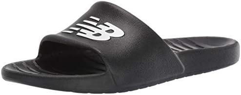 New Balance Men s 100 V1 Slide Sandal Black Black 9 M US product image