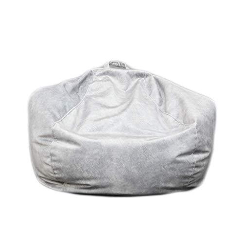 Zitzak, Flanel Lazy Sofa Sack Multifunctionele Milieuvriendelijk Particle Vullen met Portable Handle - Dorm kamer, Gray, 120cm aijia