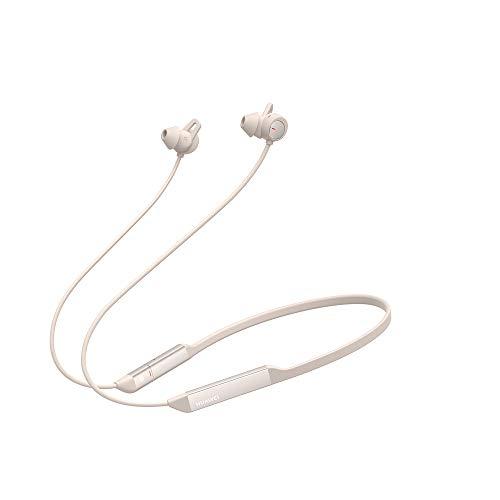 HUAWEI FreeLace Pro, Wireless Bluetooth In-Ear Kopfhörer mit authentischer HUAWEI Dual-mic Active Noise Cancellation, 24 Stunden Spielzeit, Dawn White