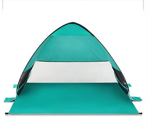 GDD - Tienda de campaña portátil para playa, acampada, tienda de campaña, tienda de campaña automática, desplegable, para la playa, etc. 50+, verde