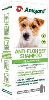 Amigard Anti-Floh Set - Flohshampoo mit Floh- & Nissenkamm - Flohbehandlung für Hunde & Katzen